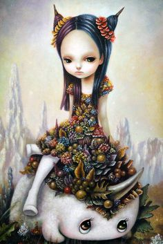 Japanese self-taught artist Yosuke Ueno explores the fantasy world of surrealism in his whimsical yet beautiful paintings. His colorful characters and their surroundings have been inspired by Japanese modern pop culture but with a dark twist. The artwork features cute, ... Read More