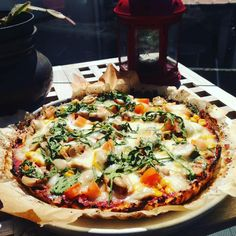 Pizza com base de couve flor – A Pitada do Pai