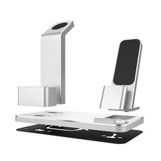 Aluminum 4 In 1 Charging Dock Station Stand Holder For iPhone/Apple Watch Series/ AirPods Sale - Banggood.com Apple Watch Accessories, Ipad Accessories, Wearable Device, Docking Station, Apple Watch Series, Iphone 4, Ipod, Iphone 4s, Ipods