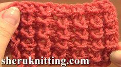 Sheruknittingcom: Knot Stitch Pattern Knitting Tutorial 1