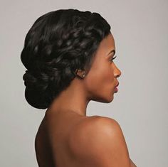 Consider these gorgeous hair styles for your next formal occasion   double braid crown updo by 'TSD HAIR EXTENSIONS'