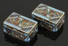 7004 - Pr. Russian Silver Enamel Pill Boxes Autumn Estate Auction | Official Kaminski Auctions