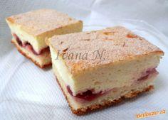 Kynutý koláč s tvarohovou pěnou Cheesecake, Food, Cheesecakes, Essen, Meals, Yemek, Cherry Cheesecake Shooters, Eten