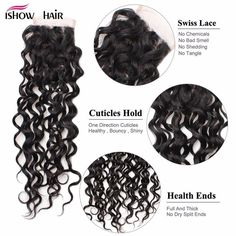 Ishow Malaysian Water Wave Hair Bundles With Closure Remy Human Hair Lace Closure With 4 Bundles Unprocessed Virgin Human Hair Weft Natural Color Shedding Free True To Length Remy Human Hair, Human Hair Extensions, Hair Bundle Deals, Beauty Supply Store, Waves Bundle, Natural Waves, Malaysian Hair, Water Waves, Hair Weft