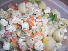 Salade de pâtes (surimi concombre maïs)