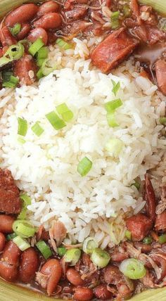 New Orleans Red Beans and Rice Cajun Red Beans And Rice Recipe, Red Beans And Rice Recipe New Orleans, Pork And Beans Recipe, Camellia Red Beans And Rice Recipe, Hot Rice Recipe, Red Beans And Rice Recipe Vegetarian, Dinner Recipes With Rice, Pork And Rice Recipes, Cajun Shrimp And Rice