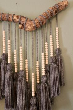 Beaded Gray Tassel H