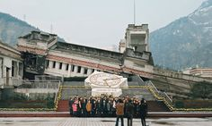 Sichuan earthquake tour, Wenchuan county, China. All photographs: Ambroise Tézenas