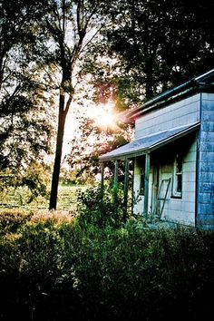 Abandoned house at sunset by Shawn!, via Flickr
