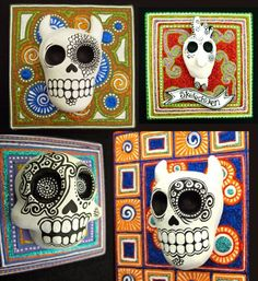 Awesome 3-D Day of the Dead sugar skull mask art projectDay Of The Dead Skull Art Project