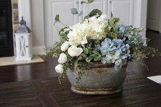 Kitchen table centerpiece idea