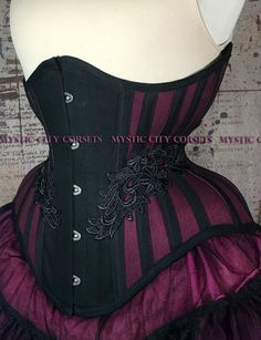 2088af6597f New MCC-60 cotton Underbust tightlacing waist training corset MystiC City  Corsets by MystiCCityCorsets on
