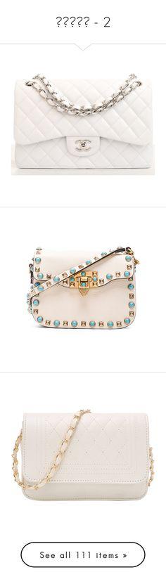 """Сумки - 2"" by moreen007 ❤ liked on Polyvore featuring bags, handbags, purses, bolsas, chanel, white quilted purse, white purse, white handbags, hand bags and valentino bag"