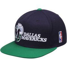 Men's Dallas Mavericks Mitchell & Ness Navy/Green Hardwood Classics XL Logo 2-Tone Adjustable Hat, Your Price: $29.99
