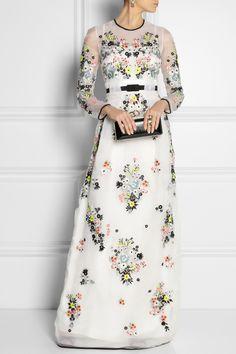 Erdem   Caldwell embroidered silk-organza gown   NET-A-PORTER.COM .....beautiful !