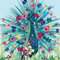 Just love peacocks!  Psychedelic Floral Illustrations by New Zealand based,Nadia Flowers. Exquisite Artwork that's a visual explosion of color, beauty and nature. From bird feather false eyelashes to a peacock festooned with flowers, these masterful art pieces are a psychedelic wonder to behold.    Flower's clients include pop star Lily Allen, major companies like Coca-Cola, Italian fashion brand Fornarina, and English fashion designer Katharine Hamnett. Her work...