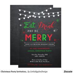 Christmas Party Invitation / Holiday Invitation