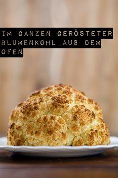 Im Ganzen gerösterer Blumenkohl aus dem Ofen - www.mirjahoechst.de