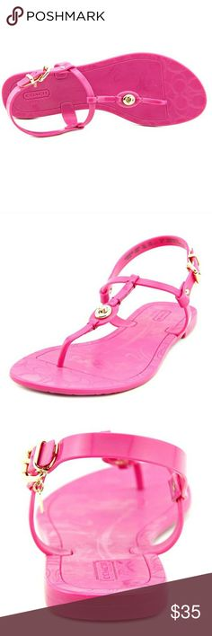 Coach Pier Shiny Fuschia Jelly Thong Sandals Coach Pier Shiny Jelly Open Toe Synthetic Thong Sandals. Soooo cute! Bought and never worn! Brand new with tags! Smoke free! Perfect for dressing up or down! Coach is always in style! Coach Shoes