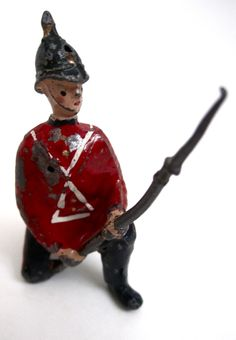 Vintage British Kneeling Lead Soldier. ($5)  Available at http://www.uncannyartist.com/products/british-soldier.