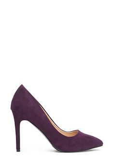 (Also comes in black; Purple adds a little something unique but is still fairly conservative.) Pointed Faux Suede Pumps | FOREVER21 - 2055878486