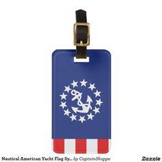 Nautical American Yacht Flag Symbol Bag Tag