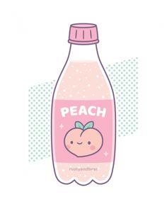 and Drink wallpaper cartoon Cute Peach Soda Bottle Short-Sleeve Unisex T-Shirt Cute Food Drawings, Cute Kawaii Drawings, Kawaii Doodles, Cute Doodles, Kawaii Art, Wallpaper Doodle, Kawaii Wallpaper, Cute Food Wallpaper, Peach Aesthetic