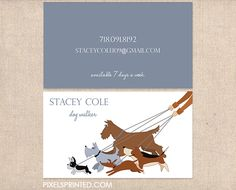 11 best inspiration design for dog walking images on pinterest business cards for dog walkers pet sitters grooming pet hotels etc colourmoves