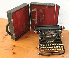 A cased Corona number three folding typewriter.
