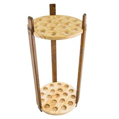 Lowest Price on Espresso Stained Ash & Pine Round Cane Stand.