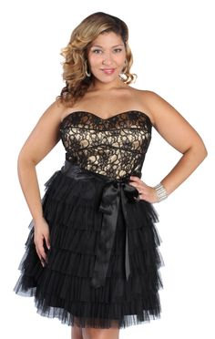 #plus #size mesh lace #homecoming dress  $89.99