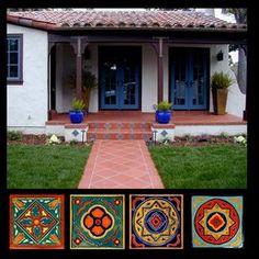 Stonelight Tile - San Jose, CA, United States. Spanish Custom Stair Risers by Stonelight Tiles San Jose Showroom. Reissues of original S&S 1920's molds