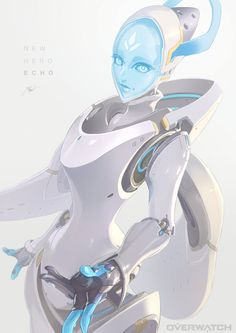 Overwatch Robot, Overwatch Drawings, Overwatch Fan Art, Fanart Overwatch, Overwatch Wallpapers, Alien Concept Art, Galaxy Art, Robot Art, Video Game Art