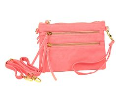 Favorite Quick Fix Crossbody Bag - Peachy Pink  http://www.rackandclutch.com/handbags/favorite-quick-fix-crossbody-bag-peachy-pink