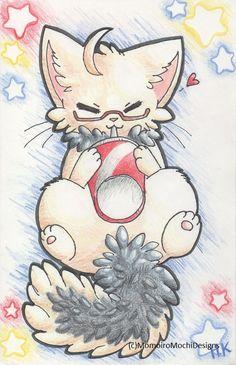 Americat Hetalia Cat Anime Art Print by MomoiroMochiDesigns