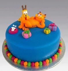 Garfield Cake by Gellyscakes Birthday Cake With Flowers, Birthday Cakes For Teens, Birthday Ideas, Teen Birthday, Birthday Images, Birthday Wishes, Fancy Cakes, Cute Cakes, Garfield Cake