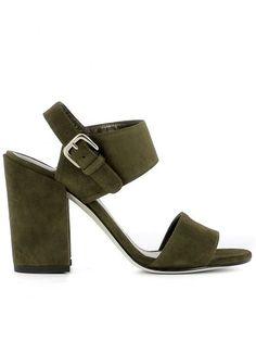 STUART WEITZMAN Green Suede Sandals. #stuartweitzman #shoes #green-suede-sandals