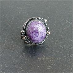 Перстень с чароитом.