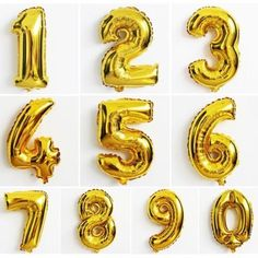 34 Large Helium Friendly Foil Number Balloons