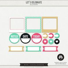 Free Let's Celebrate Printables | mydigitalartstudio