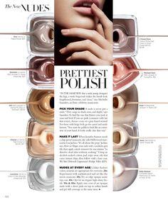 Harper's Bazaar Nail Polish Product Page Hair Magazine, Beauty Magazine, Magazine Editorial, Editorial Layout, Editorial Design, Magazin Design, Typography Layout, Magazine Spreads, Blush Brush