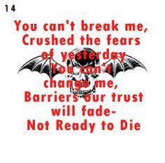 Not Ready to Die ~ Avenged Sevenfold