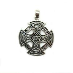 Sterling Silver Brooch Celtic Symbol Triskelion Genuine Solid Hallmarked 925