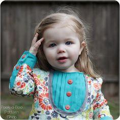 Errmahgerd. look at this dress!!!    Sabrina Shirttail Dress Girls Dress Pattern by PeekabooPatternShop. , via Etsy.