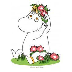 Muumit kakkukuva - Niiskuneiti ja hiuksissa kukkia - Syötävä kakkukuva kakkuun Moomin Wallpaper, Tove Jansson, Moomin Mugs, C2c Crochet, Hand Embroidery Patterns, Cross Stitch, Doodles, Snoopy, Drawings