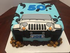 2d jeep birthday cake | cake lady wpb | Flickr Birthday Cakes For Men, Car Cakes For Men, Truck Birthday Cakes, Birthday Cake Card, Truck Cakes, 30th Birthday, Birthday Ideas, Birthday Stuff, Cake Decorating With Fondant