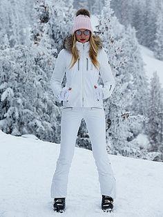 f334d30288bf3 Elsa Hosk in a White Bogner 2-Piece Ski Suit ...
