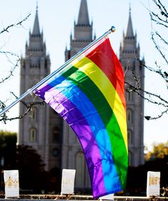 Mormon Church Gay Parent Policy Protests | More than 1,000 people protested this weekend against a new policy from the Mormon Church that bars the children of same-sex couples from being baptized. #refinery29 http://www.refinery29.com/2015/11/97718/mormon-resignations-gay-parents