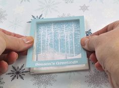 Falling Snow Holiday Shaker Card : Page 02 : Decorating : Home & Garden Television