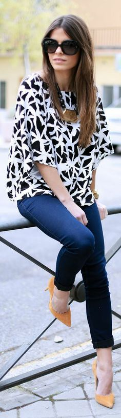 Vila Clothes Black And White Half Sleeves Palm Print Blouse by Seams For a Desire